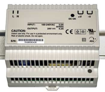 Power supply 24V / 100W for DIN rail mounting