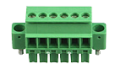 Plug-in screw terminal, 6-pole
