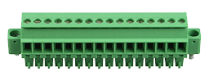 Plug-in screw terminal, 16-pole