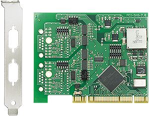 Serial PCI base board, 1kV isolated