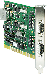 ISA Card 2x RS422/RS485, 1kV isolated