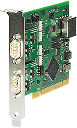 PCI card 2x 20mA, 1kV isolated