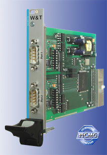 cPCI card 2x RS232/RS422/RS485