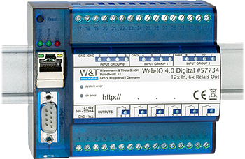 Web-IO 4.0 Digital, 12xInput, 6xRelay Output