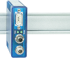 Multimode glass fiber optic ST to RS232 with HS