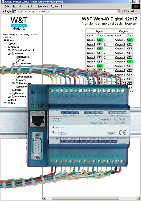 WuT data sheet: Web-IO 12x Digital Input 12x Digital Output with RS-232