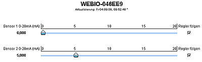 Web-IO Analog Out Schieber